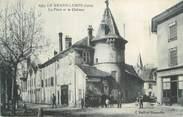 """38 Isere CPA FRANCE 38 """" Le Grand Lemps, La Place et le Château"""""""