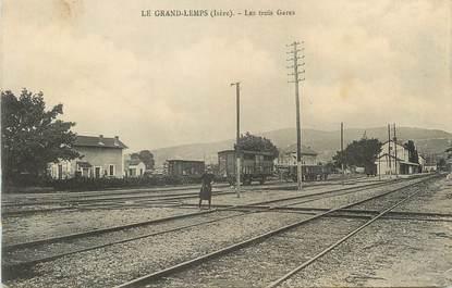 """CPA FRANCE 38 """" Le Grand Lemps, Les Trois Gares"""""""
