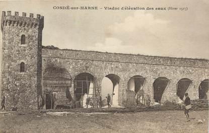 """/ CPA FRANCE 51 """"Condé sur Marne, viaduc d'élevation des eaux"""""""