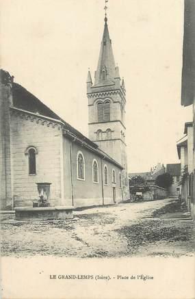 """CPA FRANCE 38 """" Le Grand Lemps, Place de l'église"""""""