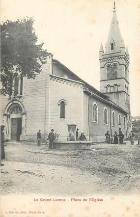 """CPA FRANCE 38 """" Le Grand Lemps, Place de l'Eglise"""""""
