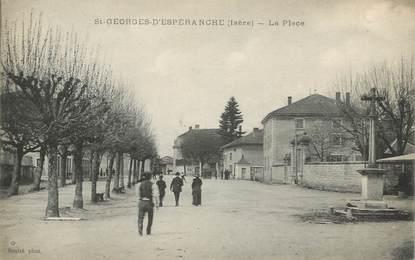 """CPA FRANCE 38 """" St Georges d'Espéranche, La place"""""""