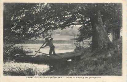 """CPA FRANCE 38 """" St Georges d'Espéranche, L'étang des Grenouilles"""""""