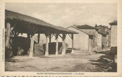 """CPA FRANCE 38 """" St Georges d'Espéranche, La Halle"""""""