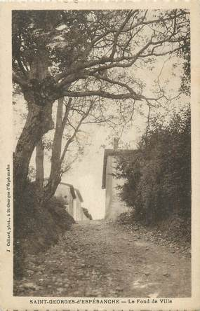 """CPA FRANCE 38 """" St Georges d'Espéranche, Le fond de ville"""""""