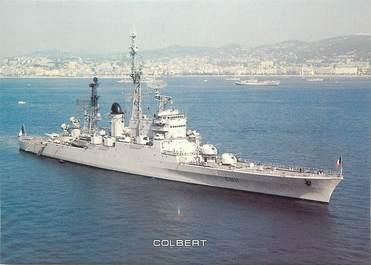"""CPSM BATEAU """"Le croiseur lance-missiles Colbert"""""""