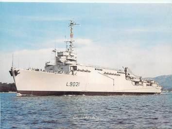 """CPSM BATEAU """"Transport de chalands de débarquement Ouragan"""""""