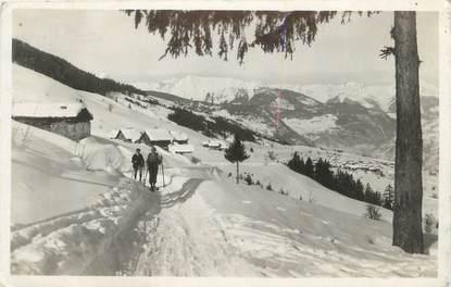 """CPSM FRANCE 73 """" St Bon, Route de Courchevel"""""""