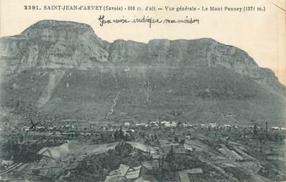 """CPA FRANCE 73 """"St Jean d'Arvey, Vue générale, Le Mont Penney"""""""