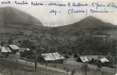 """CPSM FRANCE 73 """"St Jean d'Arvey, Vue sur la Chaîne de Belledonne"""""""