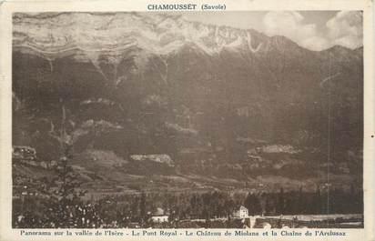 """CPA FRANCE 73 """"Chamousset, Panorama sur la Vallée de l'Isère"""""""