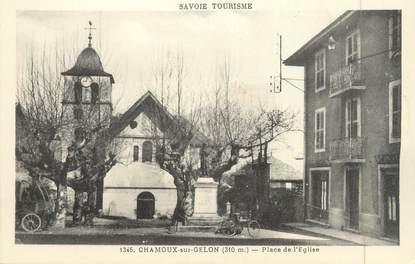 """CPA FRANCE 73 """"Chamoux sur Gelon, Place de l'église"""""""