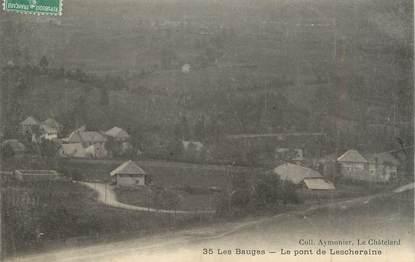 """CPA FRANCE 73 """" Lescheraines, Le pont"""""""