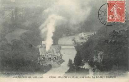 """CPA FRANCE 73 """" Les Gorges de Chailles, Usine électrique et de carbure"""""""