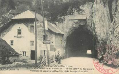 """CPA FRANCE 73 """" Les Echelles, Le tunnel"""""""