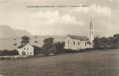 "CPA FRANCE 73 ""Jacob - Bellecombette, L'église et l'ancienne Mairie"""