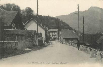 """CPA FRANCE 73 """"Les Echelles, Route de Chambéry"""""""