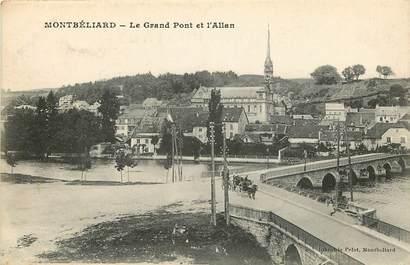 """CPA FRANCE 25 """"Montbéliard, le grand pont et l'Allan"""""""