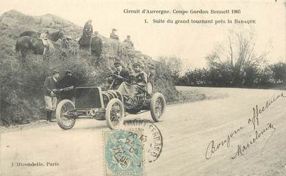 "CPA FRANCE 63 ""La Baraque"" / COURSE AUTOMOBILE / COUPE GORDON BENNETT 1905"