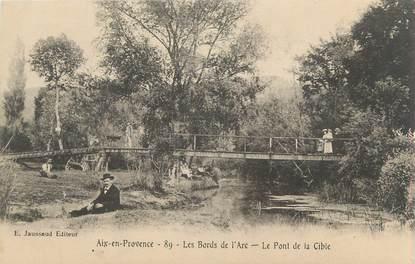 """CPA FRANCE 13 """" Aix en Provence, Les bords de l'Arc, le Pont de Cible"""""""