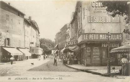 """CPA FRANCE 13 """" Aubagne, Rue de la République"""""""