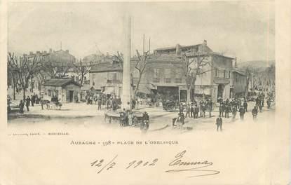 """CPA FRANCE 13 """" Aubagne, Place de l'Obélisque"""""""