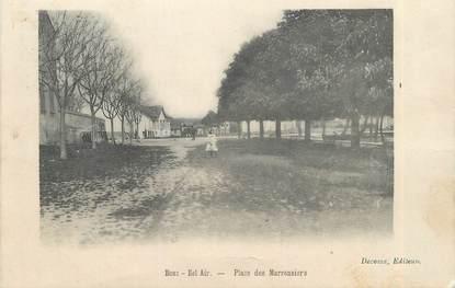 """CPA FRANCE 13 """" Bouc Bel Air, Place des Marronniers"""""""