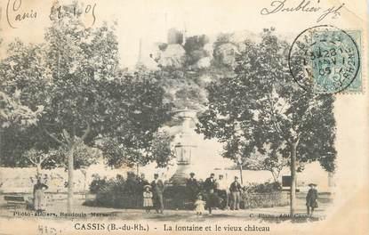 """CPA FRANCE 13 """"Cassis, La fontaine et le vieux château"""""""