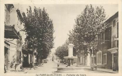 """CPA FRANCE 13 """" La Fare les Oliviers, Fontaine du Cours"""""""