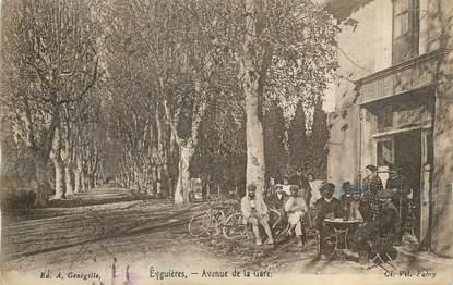 """CPA FRANCE 13 """" Eyguières, Avenue de la Gare"""""""