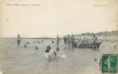 "CPA FRANCE 13 "" Fos sur Mer, Baigneurs à St Gervais"""