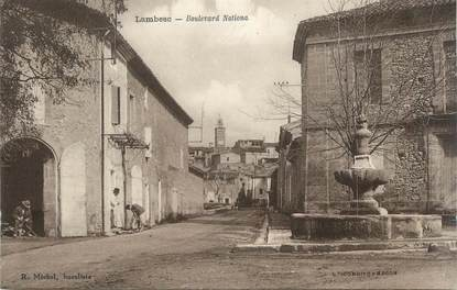"CPA FRANCE 13 "" Lambesc, Le Boulevard Nationa"""