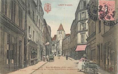 """CPA FRANCE 75020 """"Paris, Rue Saint Blaise"""""""