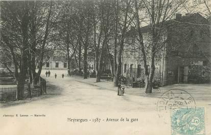 """CPA FRANCE 13 """" Meyrargues, Avenue de la Gare"""""""