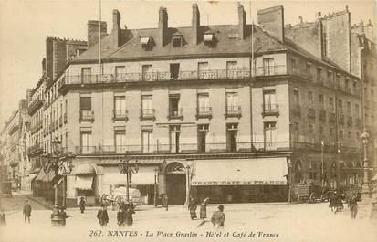 """CPA FRANCE 44 """"Nantes, La Place Graslin, Hôtel et Café de France"""""""