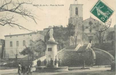 """CPA FRANCE 13 """" Orgon, Place du Marché"""""""