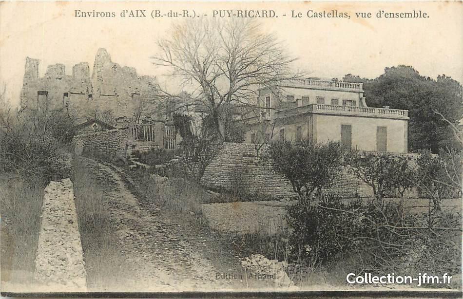 Cpa france 13 puyricard le castellas vue d 39 ensemble for Ca bouche du rhone