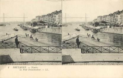 "CPA FRANCE 44 ""Nantes, Le Pont Transbordeur"" / CARTE STEREO"