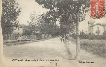 """CPA FRANCE 13 """" Rognac, Avenue de la Gare, Le Vert Clos"""""""