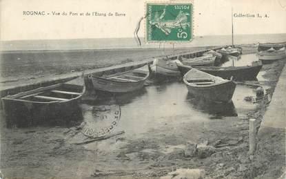 """CPA FRANCE 13 """" Rognac, Vue du Port et de l'Etang de Berre"""""""