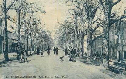 """CPA FRANCE 13 """" La Roque d'Anthéron, Cours Foch"""""""