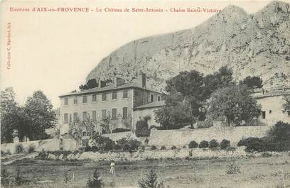 """CPA FRANCE 13 """"Saint Antonin, Le château et la Chaîne Ste Victoire"""""""