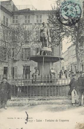 """CPA FRANCE 13 """" Salon, Fontaine de Craponne"""""""