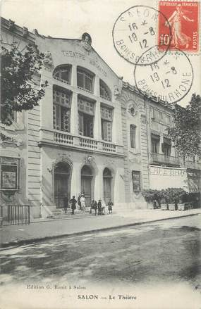 """CPA FRANCE 13 """" Salon, Le théâtre"""""""