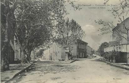 """CPA FRANCE 13 """" St Cannat, Le Croisement des routes Lambecs et Salon"""""""