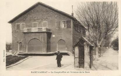 """CPA FRANCE 13 """" St Cannat, La Coopérative et l'Avenue de la Gare"""""""