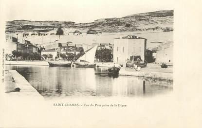"""CPA FRANCE 13 """" St Chamas, Vue du port prise de la digue"""""""