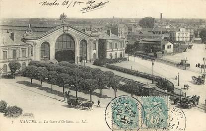 """CPA FRANCE 44 """"Nantes, la Gare d'Orléans"""""""