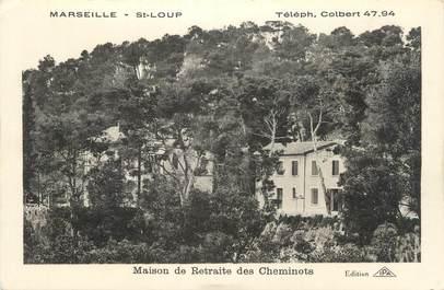 """CPA FRANCE 13 """" Marseille - St Loup, Maison de Retraite des Cheminots"""""""