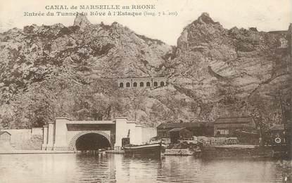 """CPA FRANCE 13 """" Marseille, Entrée du Tunnel de Rove à l'Estaque"""""""